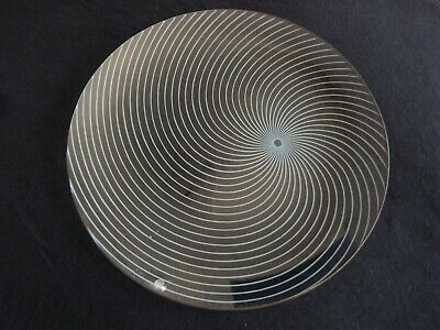 A Vintage Chance Glass Atomic Swirl Medium Plate • 10£