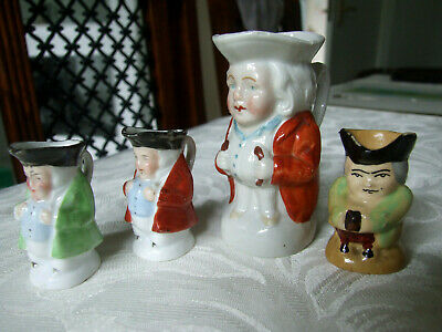 Collection Of 4 Antique Miniature Toby Jugs • 6.50£