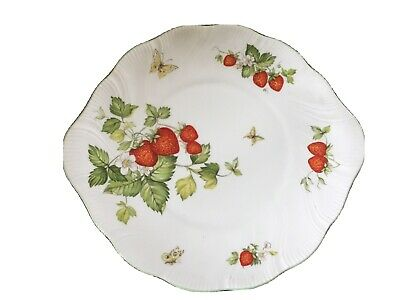 Vintage Queens Virginia Strawberry Sandwich Or Cake Plate • 10£