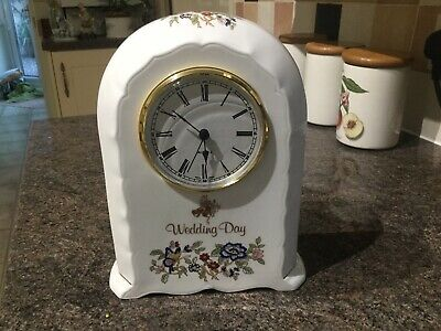 Royal Tara Galway Fine Bone China Wedding Day Quartz Clock. • 10.99£