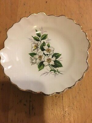 Royal Adderley Floral Small Plate White Flowers  • 1.90£