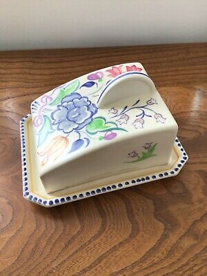 Vintage Poole Pottery Cheese Or Butter Dish • 12.50£