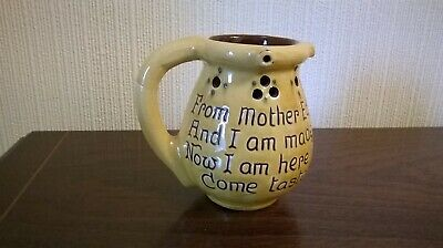 C H Brannam Moto Puzzle Pottery Jug ~ Please Read Listing & View Pictures • 24.95£