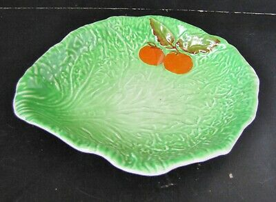Carlton Ware Green Cabbage Leaf + Tomato Dish / Made England  • 475£