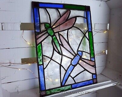 Dragonfly Stained Glass Hanger, For Wall, Window Or Suncatcher • 49.35£