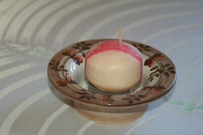 JERSEY POTTERY CANDLE HOLDER/DISH Perfect Condition Hand Painted • 5.99£