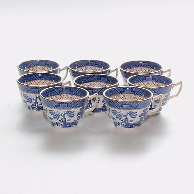 Booths Real Old Willow 8 X Tea Cups • 38£