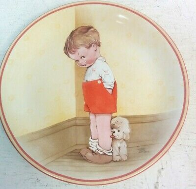 Davenport Pottery Plate Mabel Lucie Attwell Thank God For Fido No 8943A 1988#514 • 4.99£
