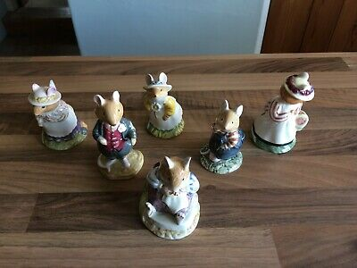 Brambly Hedge Figures Primrose Lady Woodmouse Wilfred Mr Toadflax Dusty Dogwood • 65.99£