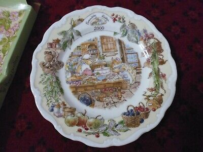 Royal Doulton Brambly Hedge 2000 Year Plate Kitchen Scenes Boxed Jill Barklem • 49.95£