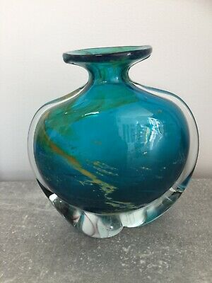 Vintage Mdina Sand & Sea Vase With Clear Straps • 20£