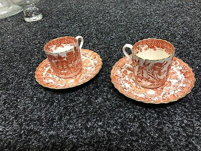Pair Of Copeland Spode Coffee Cups And Saucers - Good Condition • 15.50£