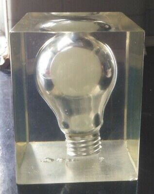 Pierre Giraudon 60/70S  Light Bulb Sculpture Large Paperweight Collectable ##75N • 9.99£