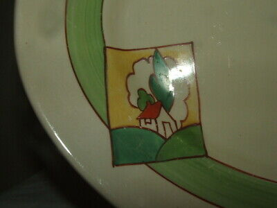 Clarice Cliff Bizarre Art Deco Stroud Abstract Oval Plate Stunning • 14.99£