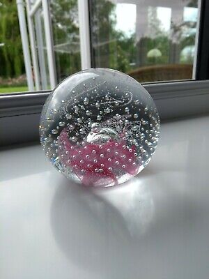 Caithness Glass Paperweight Pink And Bubbles • 3.99£