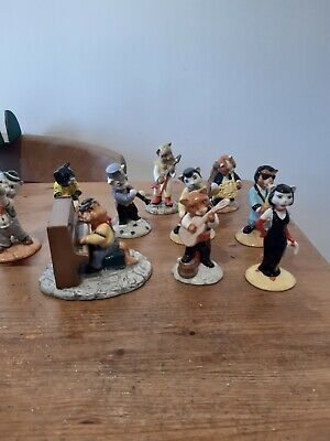 Beswick Cats Chorus Band Complete Set Of 10 - All Boxed • 80£