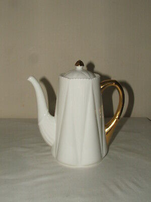 Shelley Art Deco Dainty Shaped Regency Design Chocolate Pot Truly Stunning  • 55£