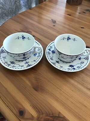 2 X Furnivals England Denmark Breakfast Cup And Saucers • 5.30£