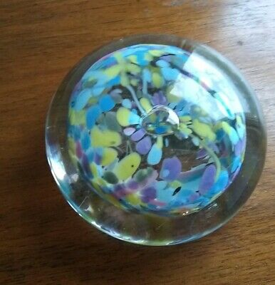 Dartington Glass Vintage Confetti Glass Paperweight 80s • 15£