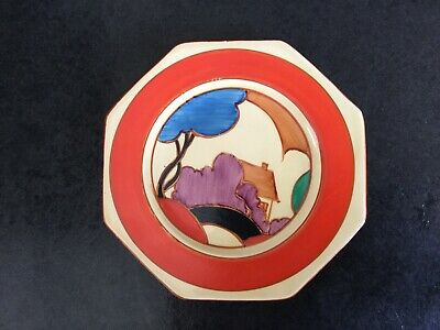 "Clarice Cliff Fantasque ""Blue Autumn"" Octagonal Side Plate 1930 • 225£"