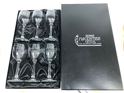 Rennie Mackintosh Set Of 6 Glencairn Crystal Red Wine Glasses GS52 Boxed #731 • 13.50£