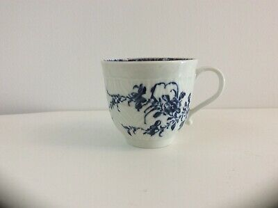 Worcester Feather Moulded Coffee Cup C.1770 • 10£