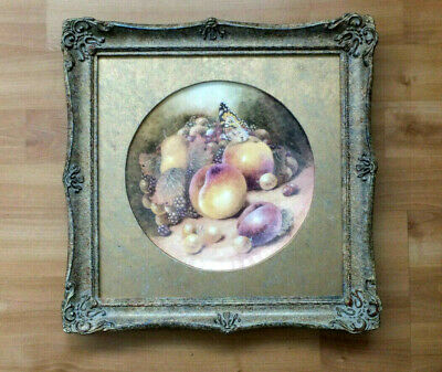 Still Life With Peaches  By (ex Royal Worcester Artist) Christopher Hughes  • 29.99£
