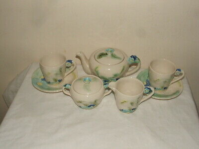 Art Deco Flower Handled Tea-4-two Truly Stunning & Mint • 14.99£