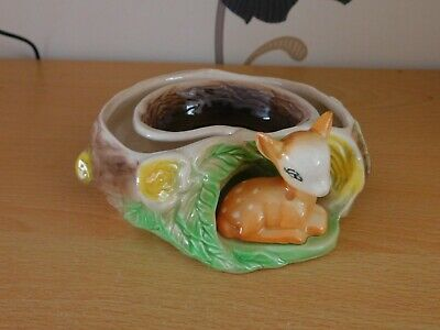 Perfect Fauna Withernsea Eastgate Pottery Small Posy Ring Bowl / Vase With Deer • 2£