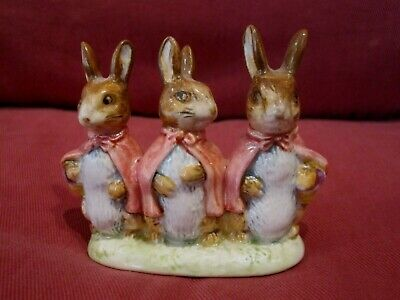 Retired Beswick Beatrix Potter Figurine Entitled Flopsy, Mopsy And Cottontail • 3.19£