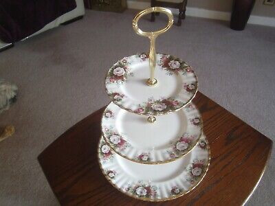N5 Royal Albert Celebration 3 Plate Afternoon Tea/cake Stand Parkinsons Charity • 40£