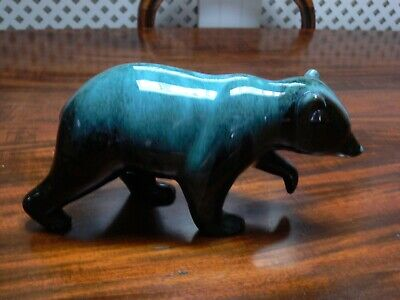 Canadian Blue Mountain Pottery Bear Large 11 Inch Long Perfect Condition • 16.99£