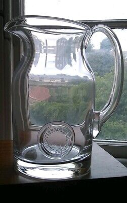 Tiffany &Co. New York Large Crystal Glass Water Jug With Tiffany Seal Decoration • 65£