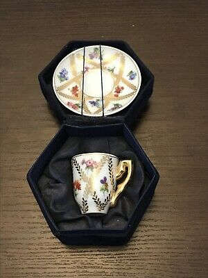 Vintage Regal Miniature Tea Cup And Saucer Boxed • 14£