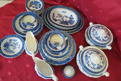 Vintage Booths Real Old Willow Dinner Wares NO GOLD  • 12£