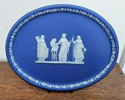 C1900 Wedgwood Blue Dip Oval Comb Tray  • 40£