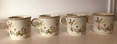 4 X MARKS And SPENCER (St.Michael) HARVEST - COFFEE CUPS - VGC • 10£