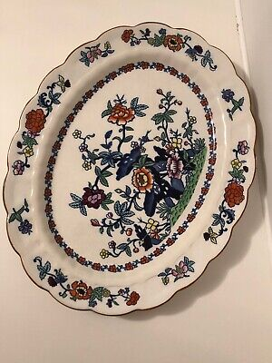Booths Silicon China - The Pompadour - Serving Plate Platter Charger - 38 X 30cm • 16£