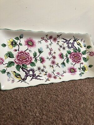 James Kent – Old Foley ' Chinese Rose ' Long Plate/Sandwich Tray - Trinket Tray • 10£