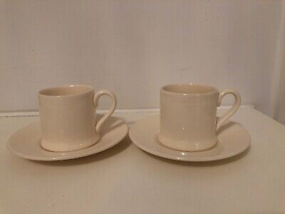 Hartley Greens - Leeds Pottery - Hunslet Roulette - 2 X Coffee Cups & Saucers • 25£
