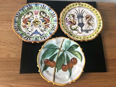 Three Small French Faience Plates - One Quimper • 5.99£