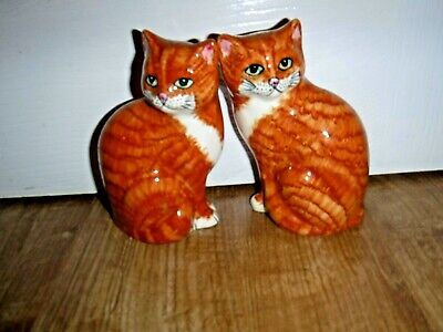 Lownds Pateman Babbacombe Pottery Figurine ~ Pair Ginger Cats ~ Brand New  • 19.99£