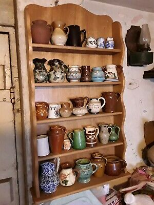 Antique Jugs. Collection Of 30. With Display Shelf. Free UK Postage • 60£