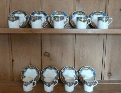 E Hughes Paladin China Somerset Coffee Set,18pc • 18£