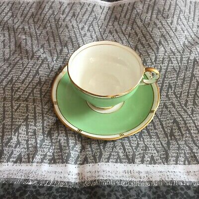 Fine Bone China ADDERLEY Floral Cup & Saucer With Gold Rim • 2.40£
