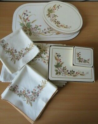 MARKS & SPENCER (St. Michael) HARVEST Tablecloth, Napkins, Placemats, Coasters • 9.50£