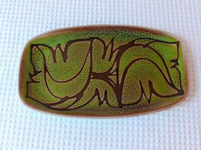 Vintage Poole Aegean Bright Green/brown Pin Tray. Fantastic Condition. • 4.99£