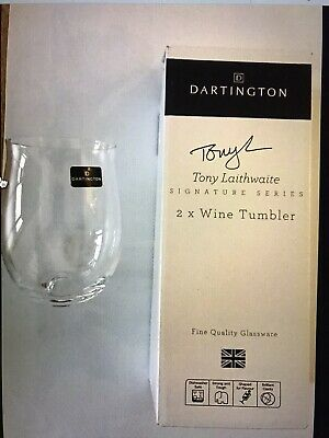 Pair Of Dartington / Laithwaites Wine Tumblers • 14.50£