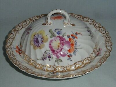 Nymphenburg Porcelain 'floral Sprig' Muffin Dish & Cover • 17£