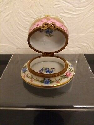 Vintage Limoges Peint Main Trinket Pill Box Hand Painted France • 19.99£